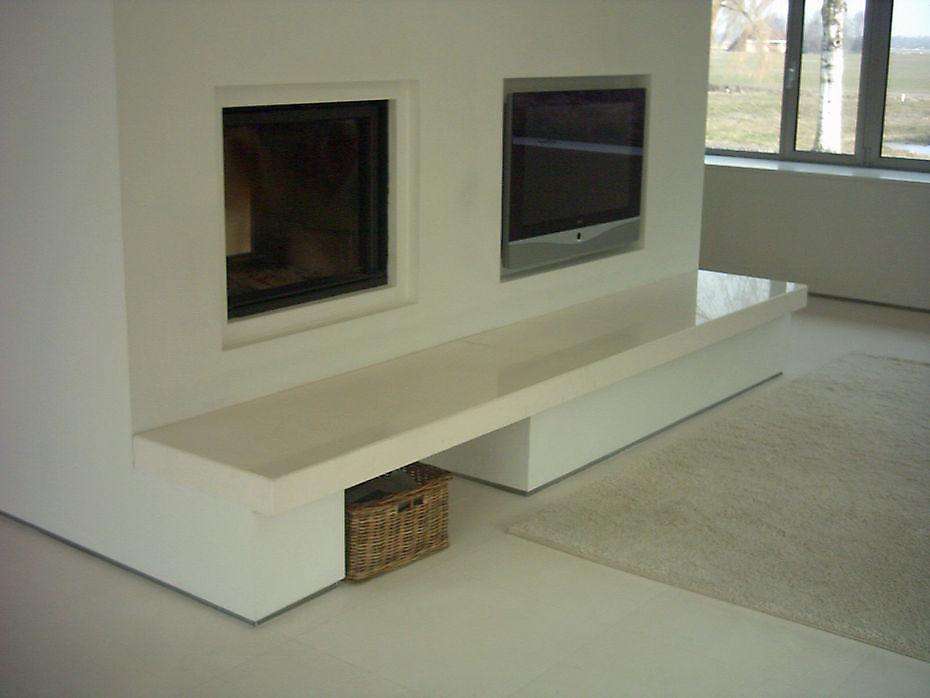 Mouleanos Schouw / TV Wand Speciale Natuursteen toepassingen Qubestone